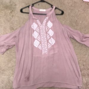 Heart Hips size small peasant top